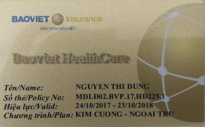 Thẻ bảo lãnh nội ngoại trú Bảo Việt