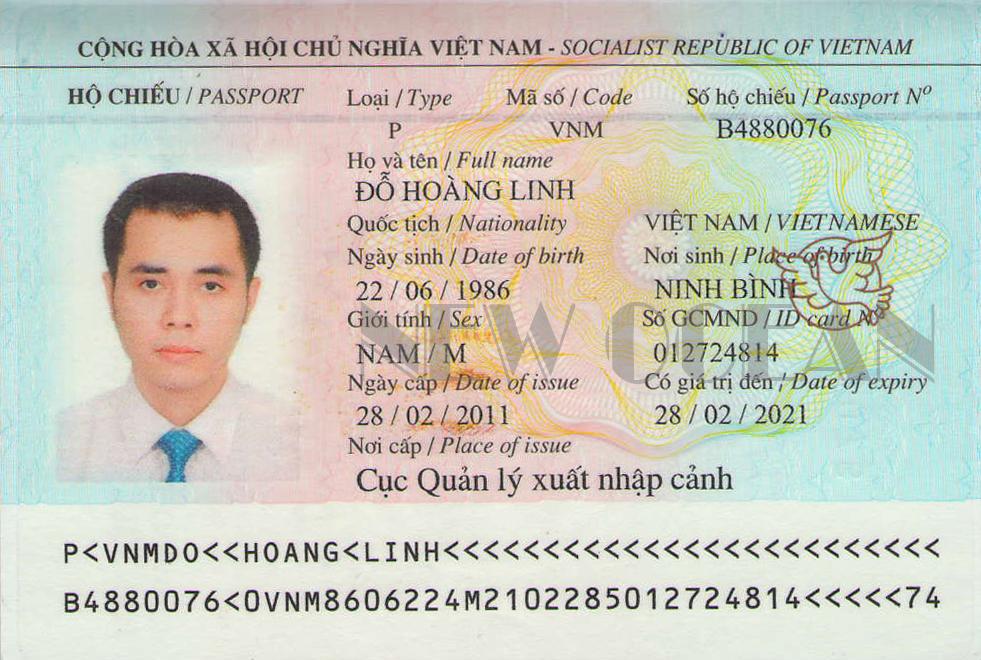 hộ chiếu xin Visa du lịch quốc tế