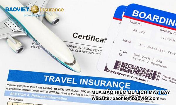 mua bảo hiểm khi đi máy bay