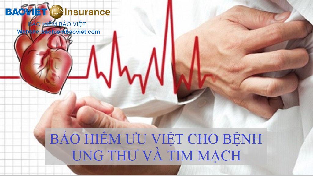 bảo hiểm ưu việt cho bệnh ung thư và tim mạch