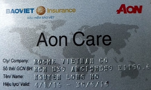 thẻ bảo hiểm sức khỏe aon care